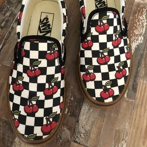 Checkered vans with cherries